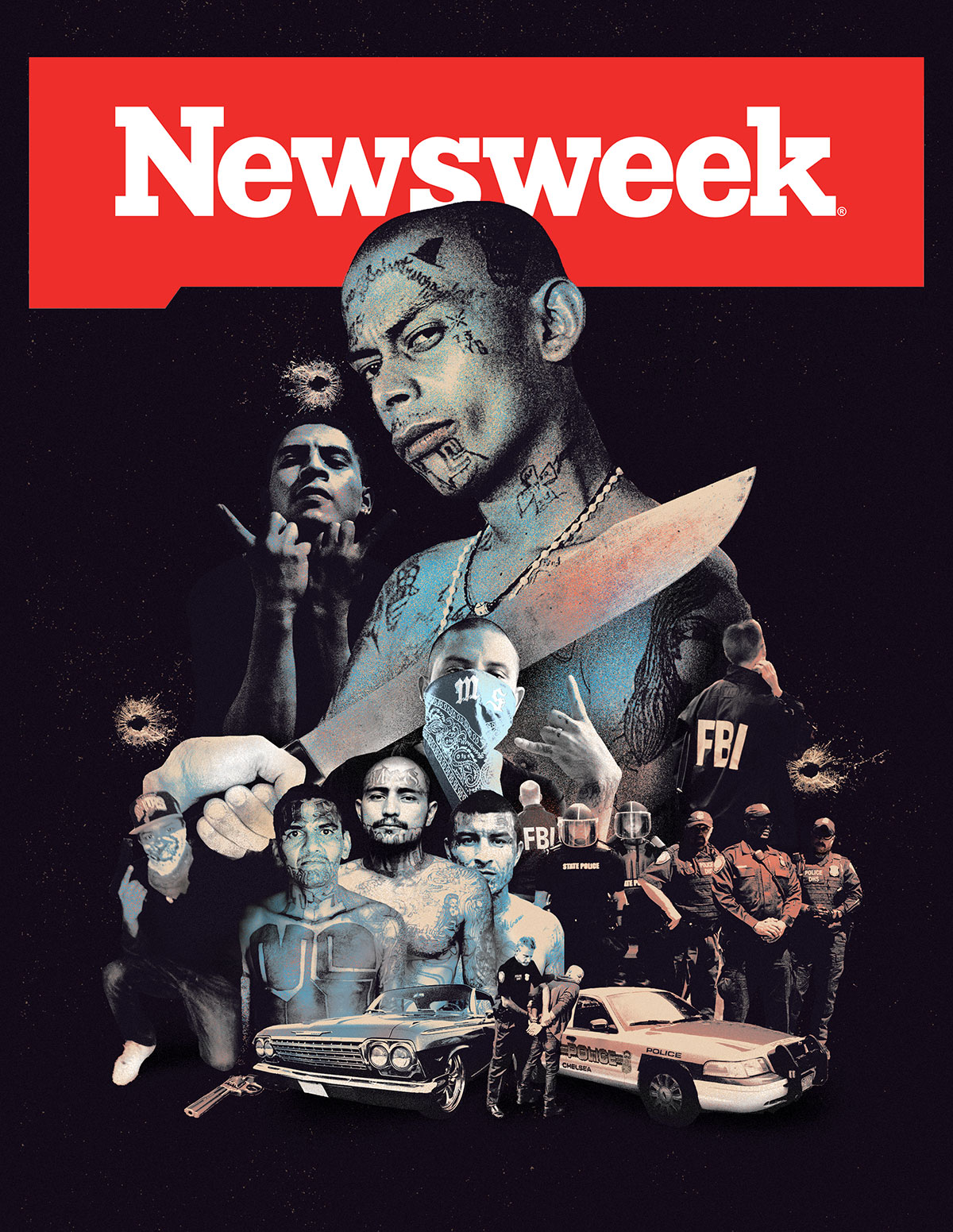 Newsweek: Gang war in USA cover